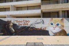 Graffiti nelle vie di Bellavista, Santiago de Chile Immagini Stock