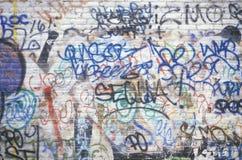 Graffiti on a New York City wall Royalty Free Stock Photography
