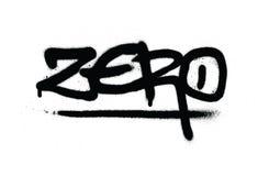 Graffiti nul markering in zwarte over wit vector illustratie