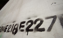 Graffiti number line stencil 02 Stock Images