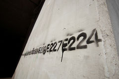 Graffiti number line stencil Royalty Free Stock Images