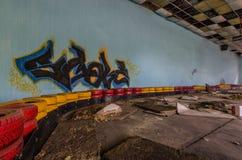 graffiti at old kart track Stock Image