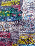 Graffiti on the old berlin wall. Graffiti on an old part of the berlin wall Royalty Free Stock Image