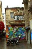 Graffiti old house Istanbul Royalty Free Stock Photo
