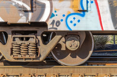 Graffiti on Old Train Royalty Free Stock Image