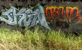 Graffiti. On an old wall in Kilby Royalty Free Stock Photo