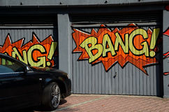 Graffiti op de garage Royalty-vrije Stock Afbeelding