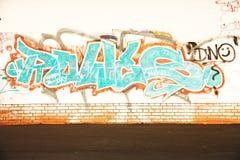 Graffiti op de muur Royalty-vrije Stock Afbeeldingen