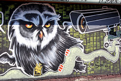 Graffiti op de muur Royalty-vrije Stock Afbeelding