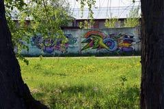 Graffiti op de muur Royalty-vrije Stock Foto's