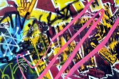 Graffiti op de muur in het vleetpark stock afbeelding
