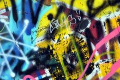 Graffiti op de muur in het vleetpark royalty-vrije stock afbeeldingen