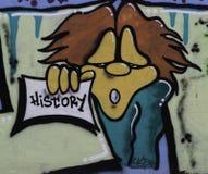 Graffiti op de muur Servië, Belgrado, 16 Februari 2018 Stock Afbeeldingen