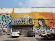graffiti op de straten van Mexico-City stock afbeelding