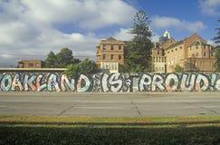 Graffiti op de straten van Oakland, Californië stock foto's