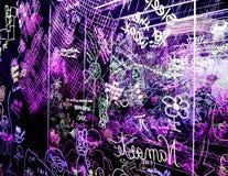 Graffiti op een duidelijke acrylraad Royalty-vrije Stock Afbeeldingen