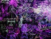 Graffiti op een duidelijke acrylraad Stock Afbeeldingen