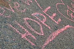 Graffiti op herdenkingsopstelling op Boylston-Straat in Boston, de V.S., Stock Fotografie