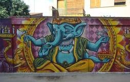 Graffiti op Indische mythologie royalty-vrije stock foto