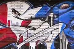 Graffiti op muur Stock Afbeeldingen