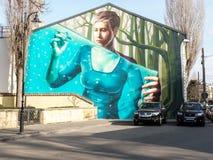 Graffiti op muur royalty-vrije stock afbeeldingen