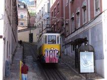 Graffiti op tram Royalty-vrije Stock Foto