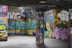 Graffiti op Zuidenbank Royalty-vrije Stock Foto