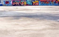 Graffiti openlucht royalty-vrije stock afbeelding