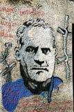 Graffiti in Orgosolo, Sardinia stock image