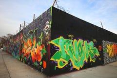 Graffiti in Ost-Williamsburg in Brooklyn Lizenzfreie Stockbilder