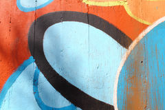 Graffiti painted concrete wall Royalty Free Stock Photography