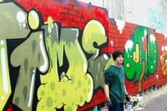 Graffiti painter portrait Stock Photography