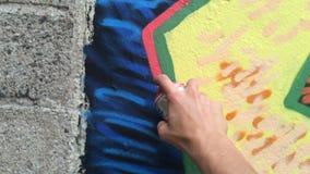Graffiti painter stock video