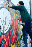 Graffiti painters, Lisbon Royalty Free Stock Photo