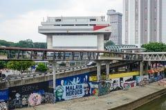 Graffiti paints on street in Kuala Lumpur, Malaysia Stock Photography