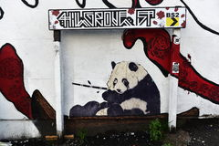 Graffiti Panda Bear Royalty Free Stock Image