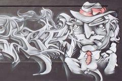 Graffiti par l'auteur américain Mark Twain Image libre de droits