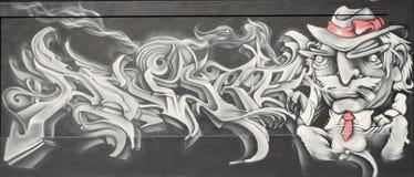 Graffiti par l'auteur américain Mark Twain Photos stock