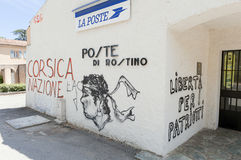 Graffiti patriotique en Corse, France Photos stock