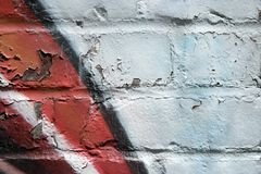 Graffiti on a peeling wall Stock Image