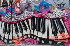 Graffiti of a piano keyboard