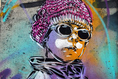 Graffiti piece in Oslo. A graffiti piece in Schweigaard street, Oslo, by French street artist C215. C215, is the moniker of Christian Guémy, a French street Stock Photography