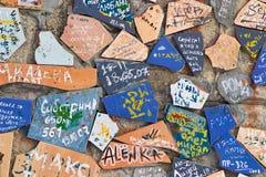 Graffiti pieces Stock Image