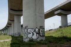 Graffiti pillar Royalty Free Stock Photos