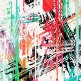 Graffiti plamy na czarnej grunge tła teksturze ilustracja wektor