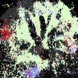 Graffiti plamy na czarnej grunge t?a teksturze ilustracji