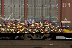 graffiti pociąg Zdjęcia Royalty Free