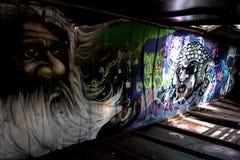 Graffiti pociąg Dokonuje w Whistler Fotografia Royalty Free