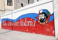 Graffiti politici a Avana Immagini Stock Libere da Diritti
