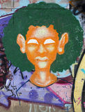 Graffiti portrait Royalty Free Stock Image
